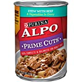 Purina ALPO Gravy Wet Dog Food, Prime Cuts Stew With Beef & Vegetables - (12) 13.2 oz. Cans