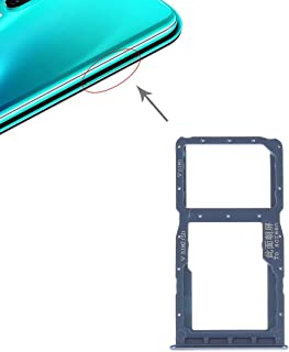 Install SIM card accessories SIM Card Tray + SIM Card Tray/Micro SD Card for Huawei P30 Lite (Grey) (Color : Blue)
