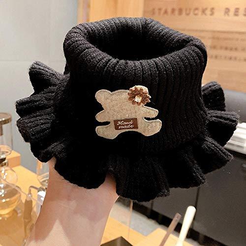SUMHOM Cuello de Invierno cálido y Resistente al Viento, Cuello cálido para niños.-Negro 2