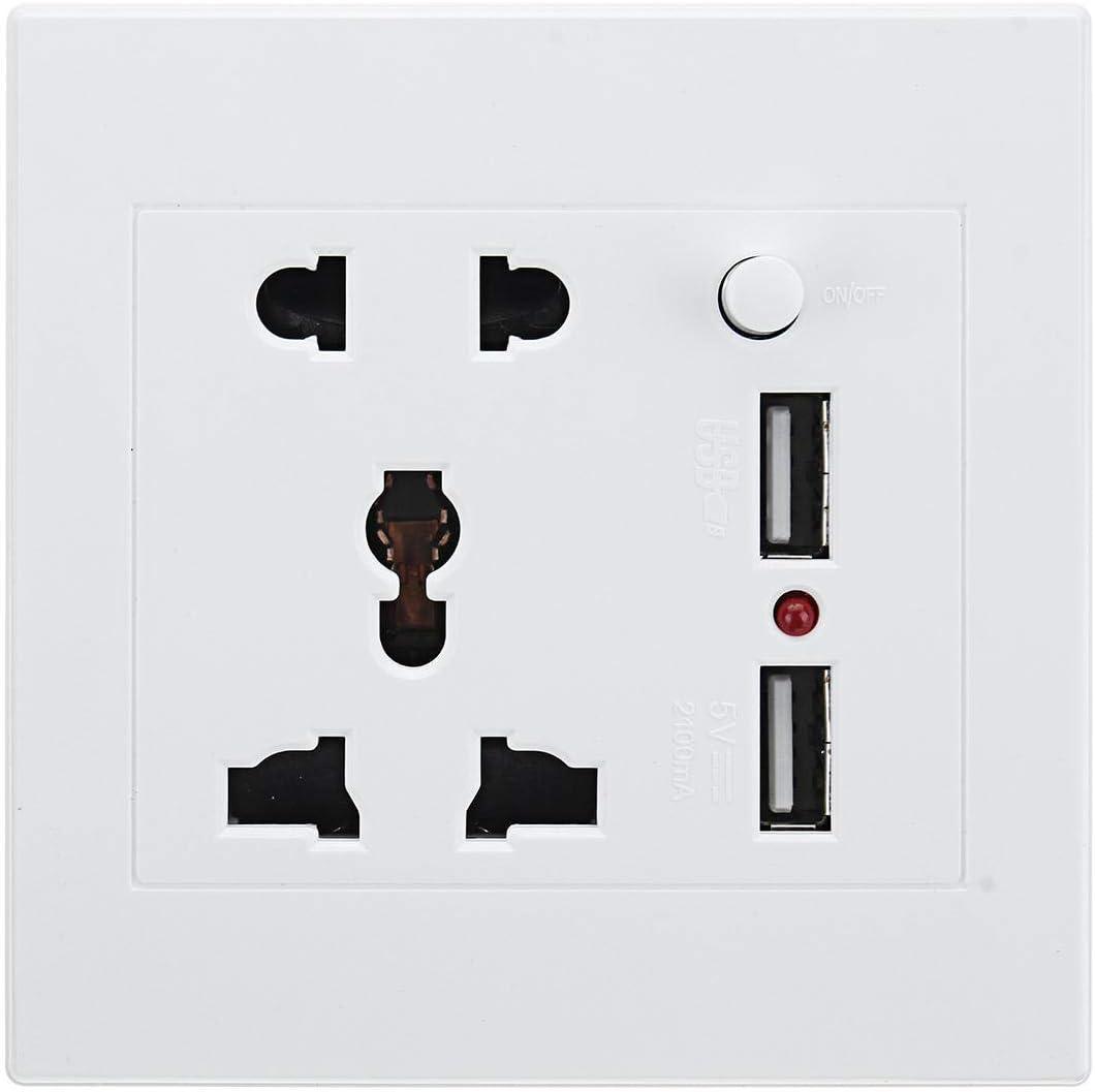 LiuliuBull H 2.1A 110V-260V Dual USB Charger Socket Max 51% OFF Wall Switch Cheap