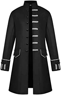 Coat Mens Steampunk Vintage Men's Jacket Winter Zipper Sweater Jacket Outdoor Outwear