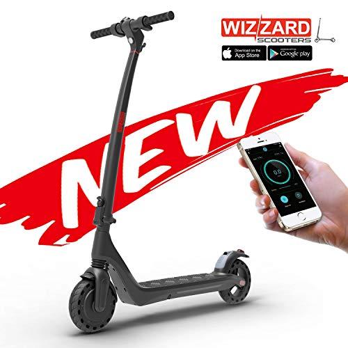 Wizzard EON City E Scooter Leistungsstarker Zusammenklappbarer Elektro Roller mit 25 Km/h - 12 Kg Gewicht (Schwarz)