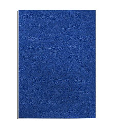 Fellowes Portadas para encuadernar de cartón símil piel Delta Cuero, extra rígido, 250 micras, 100% reciclables, formato A4, con certificación FSC, pack de 25, color azul