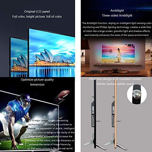 YILANJUN Televiseur Smart TV 32/42/46/55 Pouces WiFi, HDMI, Entrée AV, USB, Interfaces Riches, WiFi Intégré, Ambilight, Smart HD