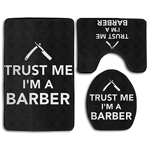 Geloof me ik ben een kapper Geloof me ik ben een kapper Vertrouw me ik ben een kapper 3-delige badkamer vloerkleed baddeken 3-delige tapijt badkamer vloerkleed set toiletbril hoes combo