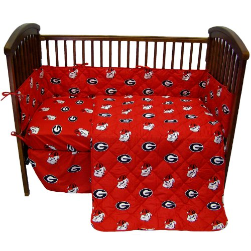 georgia bulldogs baby crib set - 1
