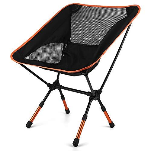 Keenso Klappbarer Mondstuhl, Verstellbarer klappbarer Mondstuhl zum Sitzen Camping Fishing Barbecue Beach(Adjustable)