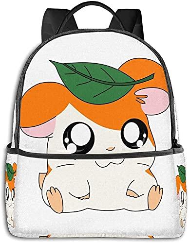 Linda mochila Hamtaro duradera impermeable multifunción bolsa de hombro para niñas niño niños