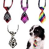 WENTS Cravatta Cucciolo 4PCS Cravatta Regolabile per Cani e Gatti, Accessori per Abbigliamento per Animali, Decorazione di Bellezza, Piccola e Carina, Riutilizzabile