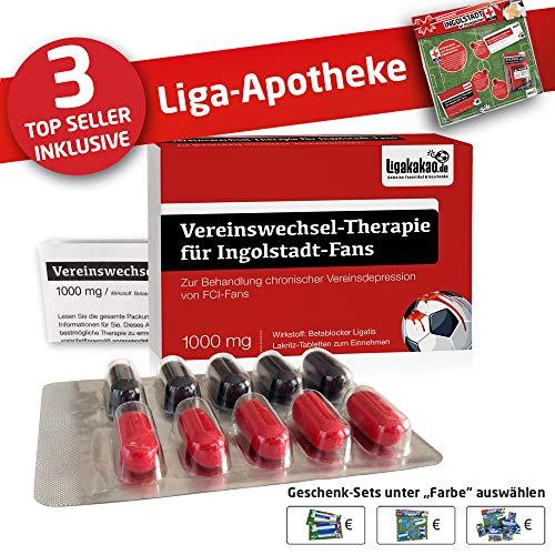 Ingolstadt 04 Mütze ist jetzt die Liga-APOTHEKE für FCI-Fans by Ligakakao.de |Strickmütze rot-schwarz Logo Emblem Männer-Größe