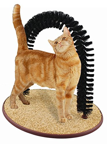 5starsuperdeals Perfect Cat Grooming Arch with Bag of Catnip - Self Scratcher and Massager Brushing...
