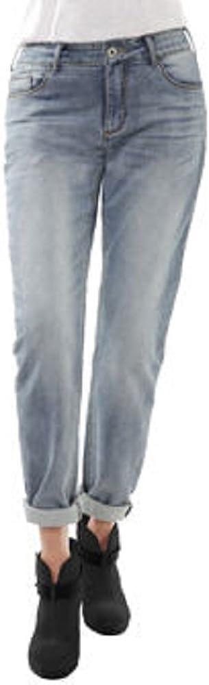 "Buffalo David Bitton Ladies' ""Boyfriend"" Style Portland Mall Max 51% OFF Knit Jean-Bleach"