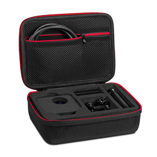 Kupton Case for GoPro Fusion 360, Travel Protective Carrying Case with Buffer Sponge, Large Storage Case for Go Pro Fusion 360-Degree Camera, Adapter & Other Accessories