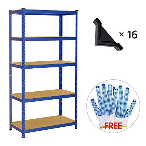 Yaheetech Scaffale/Scaffalattura da Garage 180 x 90 x 45 cm a 5 Ripiani Portata 265 kg per Ripiano in Metallo Acciaio Mensola da Cucina Magazzino Salvaspazio