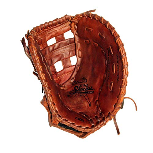 Shoeless Joe Ballgloves Fast Pitch Brown First Base Glove, Left Hand, 12 1/2-Inch