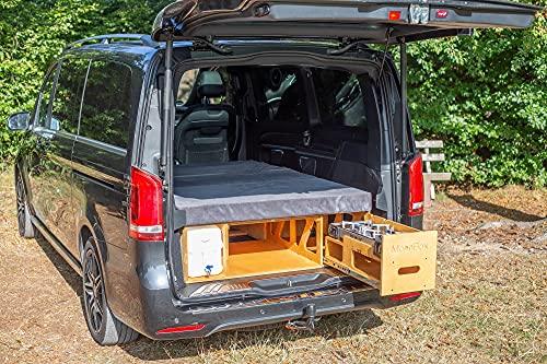 Campingbox Heckküche Schlafsystem Campingküche Bettfunktion VW Van Bus Typ 124