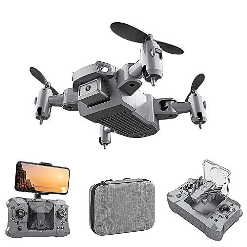 JJDSN Mini Drone, WiFi 4k HD Camera FPV Live Video, RC Quadcopter Giocattoli per Bambini Regali, Funzioni Waypoint, modalità Senza Testa, Un Tasto di decollo/atterraggio, Mantenimento dell'altitud