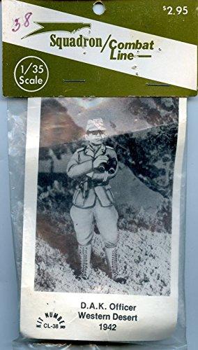 Squadron/ Combat Line 1:35 D.A.K. Officer Western Desert 1942 Metal Kit #CL-38