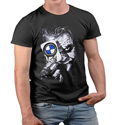 Lulchev Design - Joker Card Tshirt für Männer Power M Tuning M3 M5 M6 X6 X5 M E30 E46 E90 F10 T Shirt Gift Motorsport Herren Tshirt Herren Tshirt Prime Quality Kurzarm (Schwarz, M)