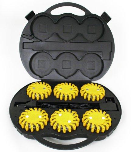 POWERFLARE Koffer gelb Akku 6 LEDs 12V/220V