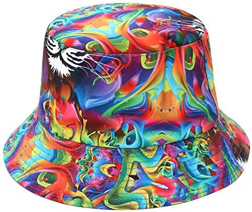 EOZY Sombrero de Pescador de Mujer Reversible Gorro de Pescador Trap Algodón Gorras de Sol Protección UV Sombreros Pescador Hombre Al Aire Libre,56-58 CM (56-58 CM, Amor)