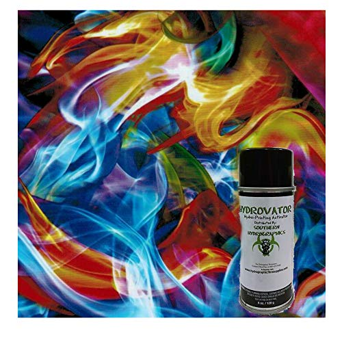 Rainbow Flames Kit - with 6oz. Activator Hydro Film Dip Kit Hydrographics Film -...