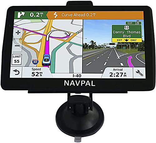 SLIMLINE SAT NAV (7 INCH) UK & WORLD MAPS EDITION 2021 (FREE Lifetime Updates) GPS Navigation for Car Truck HGV Lorry Motorhome, Features Postcodes, Driver Alerts, Lane Guidance & POI