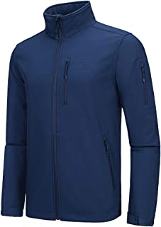 CAMEL CROWN Men's Lightweight Softshell Jacket Fleece Lined Waterproof Windproof Tactical Jackets Full Zip Hiking Work