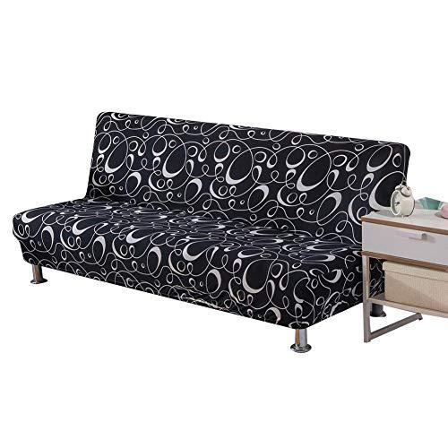 Mementoy - Funda de sofá elástica sin reposabrazos, tela de poliéster y elastano
