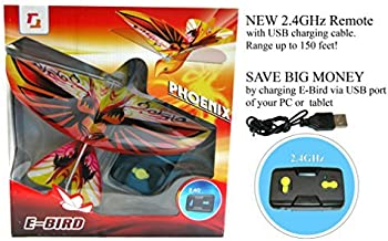 2.4GHz REMOTE CONTROL FLYING PHOENIX E-BIRD with life-like flapping wing. Great kids gift for indoor & out door use.