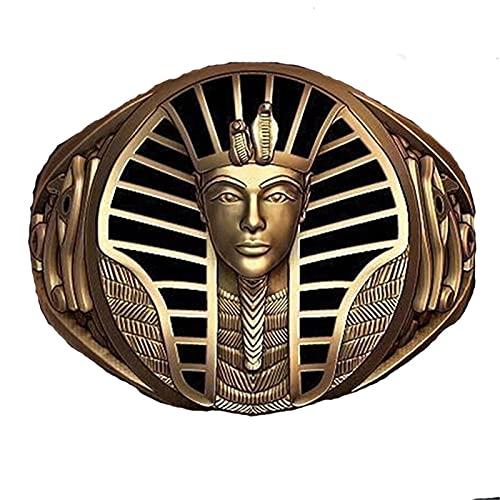 Vintage Bronze Punk Ägyptisch Französisch Alt Heilige Tönung Turkanm Herren Hip Hop Pyramide Kobra Radfahren Menschen Ring Männer Böhmen Peking Totem Schmuck,7