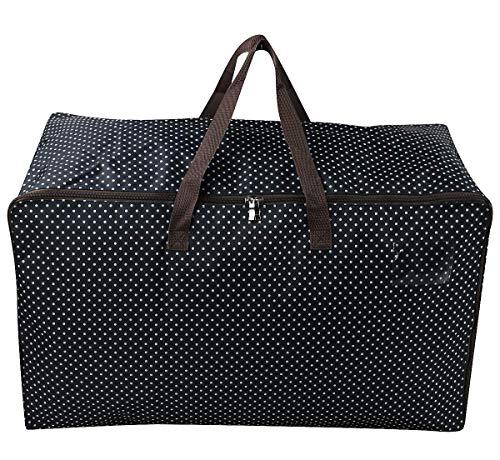 Bolsa de almacenamiento impermeable con asas resistentes, perfecta como bolsa de viaje, bolsa de transporte para la universidad, para camping, Navidad, festivales, lavable (65 x 42 x 35 cm), color azul