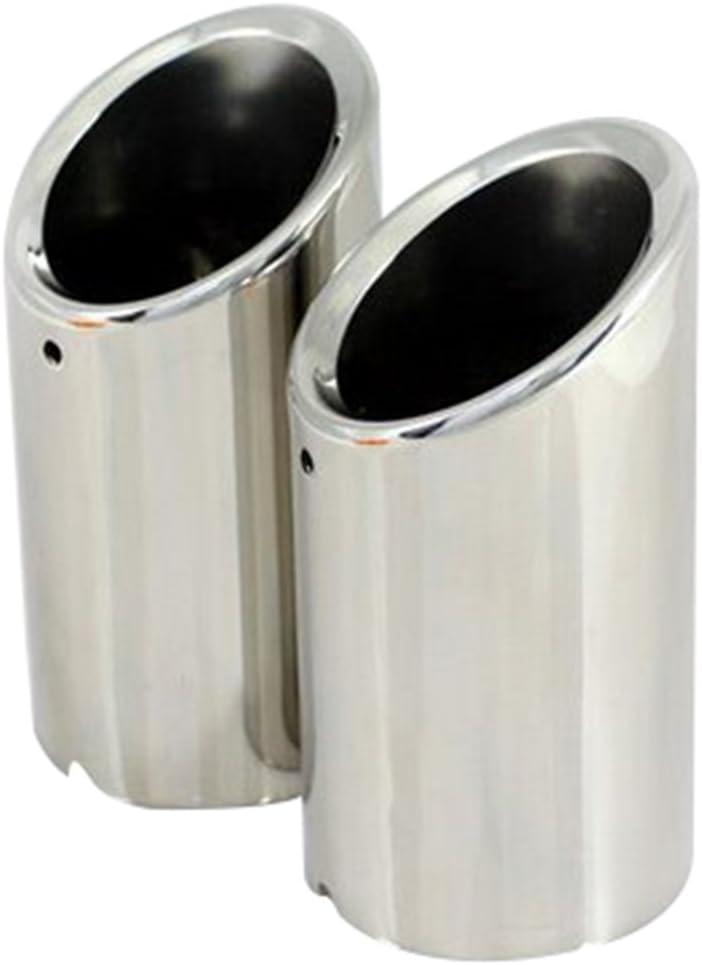 Tancurry K5-VUOU-GDVZ Embout d/échappement en acier inoxydable 304 2 pi/èces argent/é