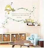 Dibujos Animados Habitación Infantil Jardín De Infantes Escuela Primaria Pájaro Canto Vinilo Decorativo