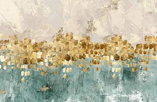 N / A Modernes Ölgemäldeplakat und Druckwandkunst-Leinwandmalerei abstrakte Geldstrand-Wohnzimmerdekorationsmalerei50x75cm