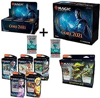 MTG Magic the Gathering Core Set 2021 M21 Booster Box, Bundle, All 5 Planeswalker Decks, 2 Collector's Packs, Arena Starter Kit