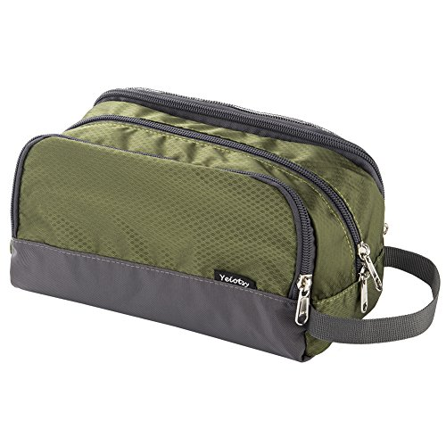 Toiletry Bag Army Green, Yeiotsy Light Mesh Travel Toiletry Organizer for Weekend Trip Gym Bag Teens Shaving Kit Bag for Kids (Army Green)