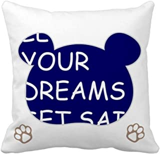 OFFbb-USA Let Your Dream Set Sail Bear - Funda de almohada cuadrada