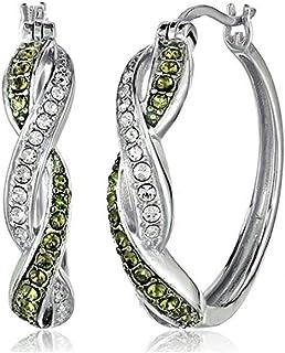 Women Hoop Earrings Fashion multicolor Earrings creative Cross wrap inlaid Cubic Zirconia Cuff hoop earrings for women