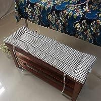 屋外屋内家具用の長方形のガーデンベンチクッション、パティオ長い滑り止めの交換用椅子シートパッドラブシートソファパターンシートマット40x12x0.8インチ
