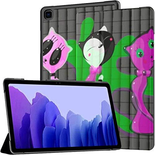 Samsung A7 Tablet Case Ilustración Vectorial Cuatro Dibujos Transparentes Cute Case para Samsung Galaxy Tab A7 10.4 Inch 2020 Release Funda Protectora Funda Samsung Galaxy A7 Funda Tablet PU Funda de
