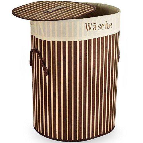 SSITG wasmand bamboe wasverzamelaar wasmand wasbox 100 L waston box