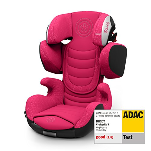 Kiddy Cruiserfix 3 | Autokindersitz (Gruppe 2/3) (ca. 3 Jahre bis 12 Jahre) (ca. 15kg - 36kg) mit Isofix | Kollektion 2019 | Rubin Pink