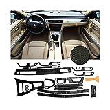 RJJX Car Kit Completo/Set 5D Interior del Coche de Fibra de Carbono Brillante Wrap Recorte en Forma...