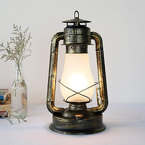 Licht-ZT Gymqian Nostalgische Laterne Der Vintage Retro Eisenlampe, Antike Rustikale Tischlampe, Vintage Retro Eisenlampe Für Café-Bar