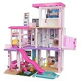 Barbie - Casa dei Sogni per Bambole con 10 Aree di Gioco come una Stanza per le Feste, più di 75 Accessori, Luci Regolabili, Musiche e Suoni, Giocattolo per Bambini 3+Anni, GRG93