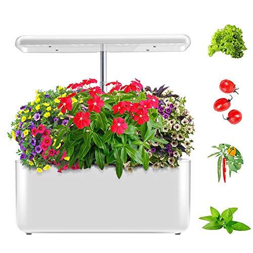 ZDYLM-Y Smart Indoor Garden, Full Spectrum LED Hydroponics Growing System mit DREI Pflanzarten, höhenverstellbar
