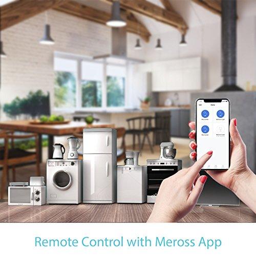 Meross Intelligente Steckdose WLAN Socket, 16A, 3680W, Timer-Funktion, kompatibel mit Alexa, Google Assistant, SmartThings, Android und iOS