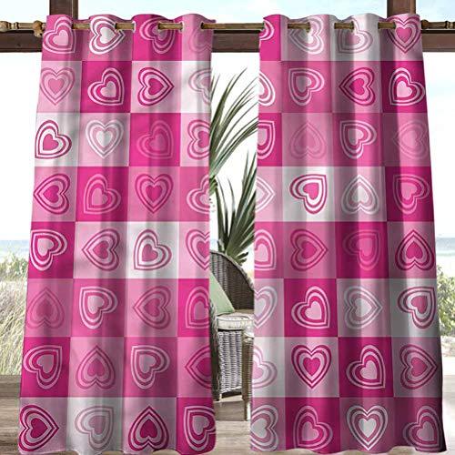 Anmaseven Love Polyester Outdoor Curtain Pergola | Cabana |Backyard| Garden| Wedding Geometric Shape Marriage Theme 108' W by 108' L(K274cm x G274cm)
