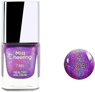 Ownest Holographic Nail Polish, Gorgeous Glossy Holographic Halo Glitter Polish Nail Art Nail Pigment Diamond Laser Nail Polish -LS07